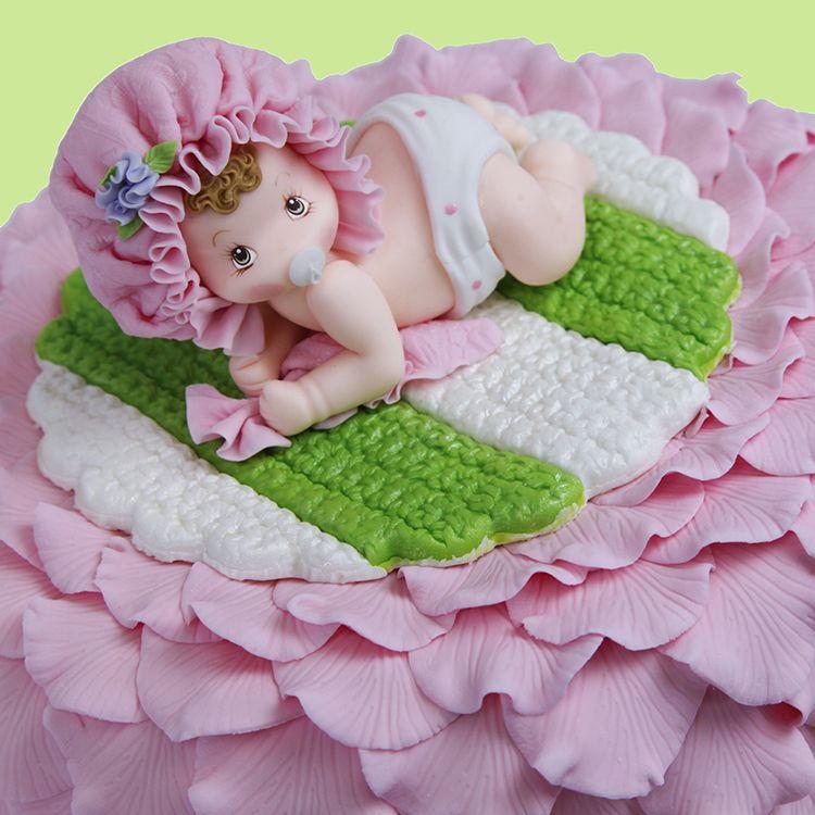 Bebé de arrastre de torta de la muchacha -Topper
