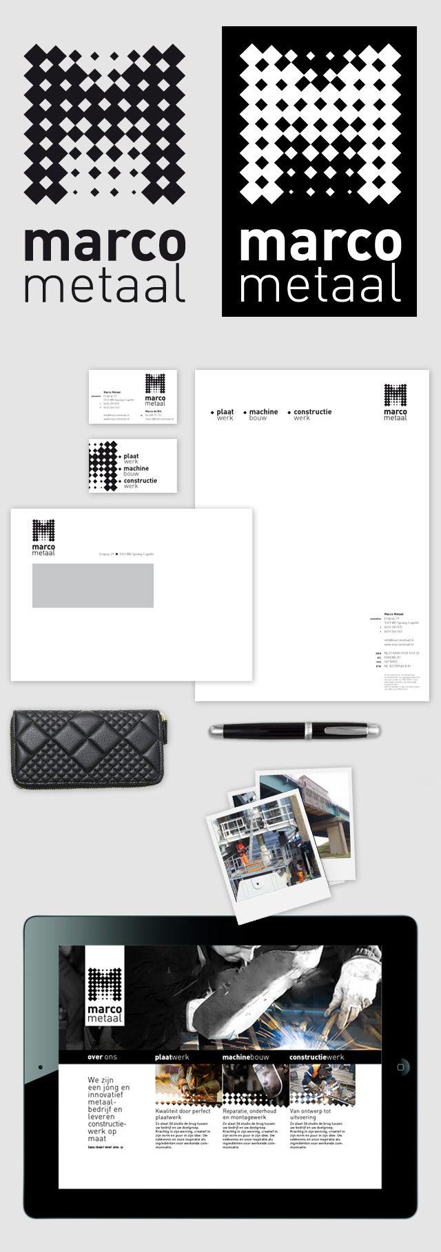 New identity, Marco Metaal. Com efeito de retícula legal | Design ...