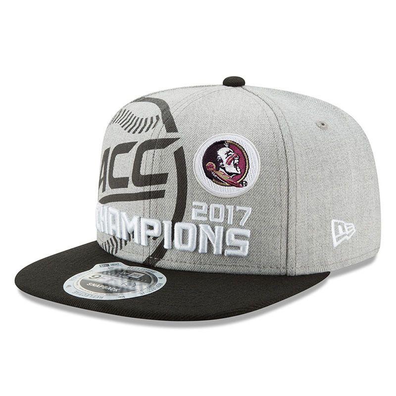 Florida State Seminoles New Era 2017 Acc Baseball Tournament Champions Adjustable Hat Heather Gray Baseball Tournament Florida State Seminoles Baseball