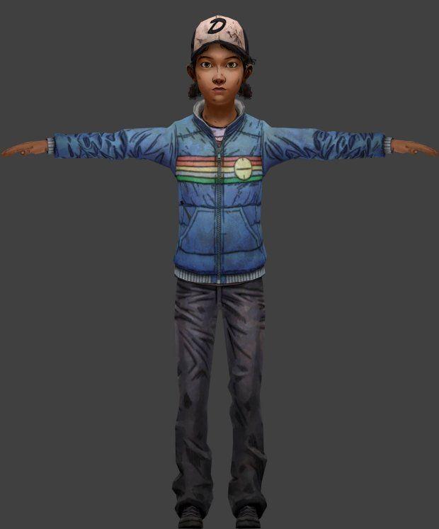 Clementine Season 2 Model Jacket My Walking Dead Animation