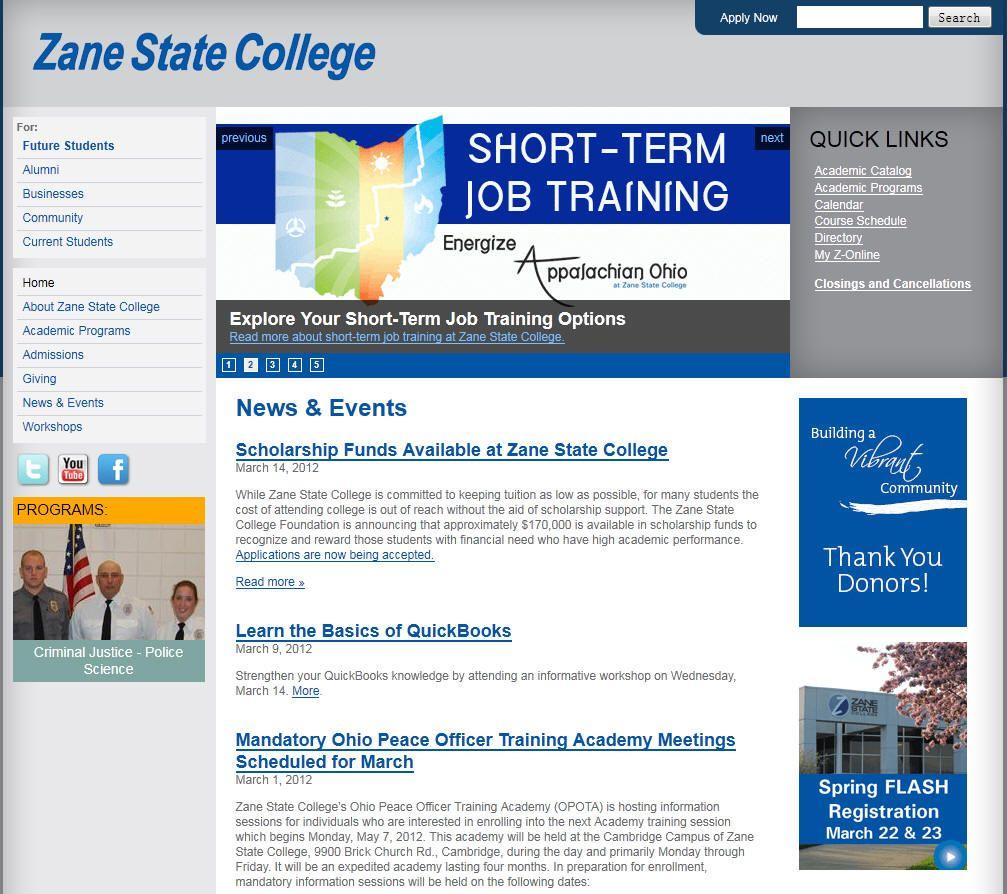 Zane State College Zanesville Oh State College College