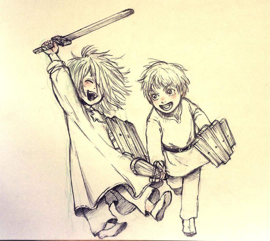 Garm and Thorfinn in 2020 Saga, Vinland saga, Anime