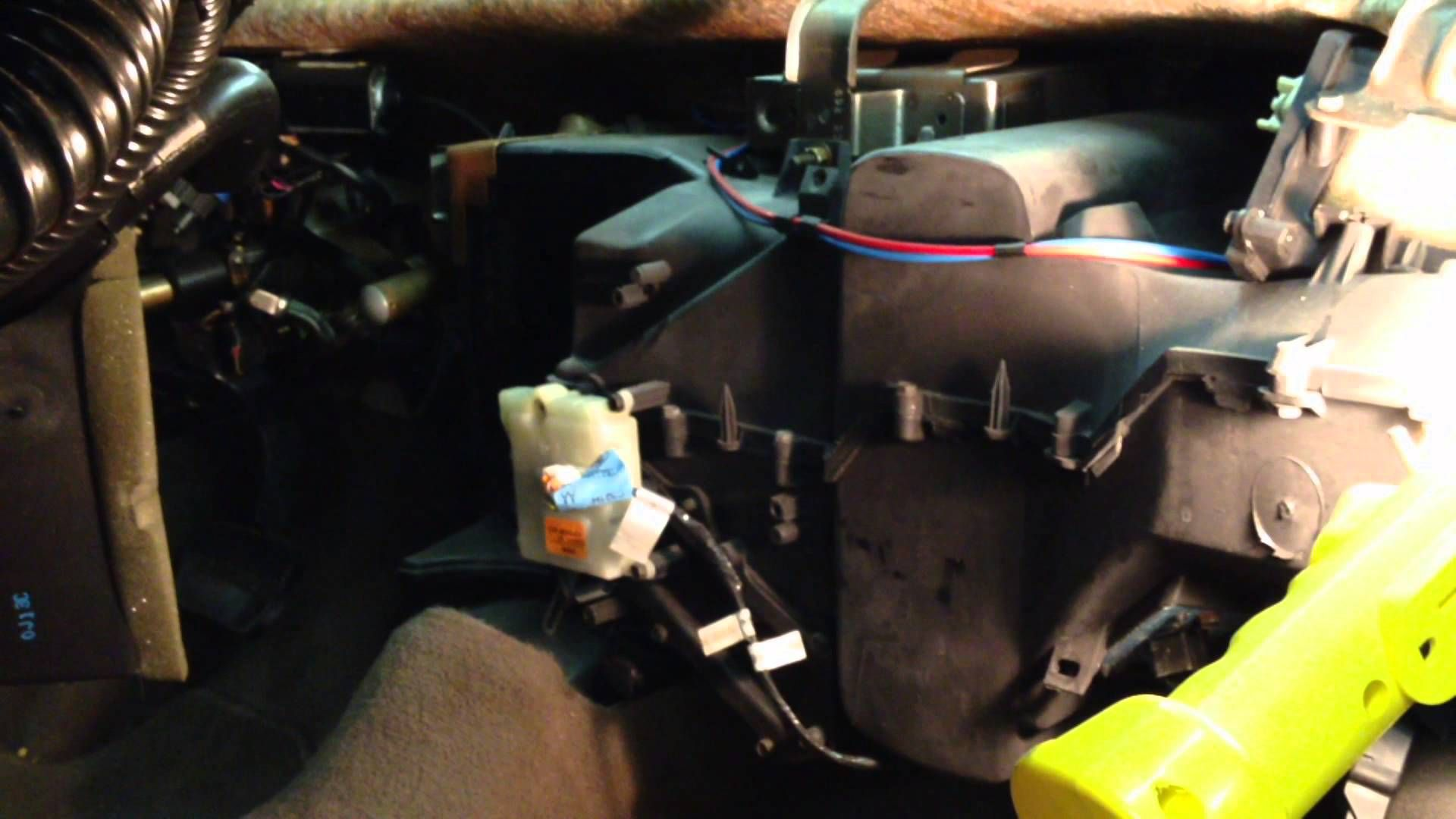 No Heat Ford Taurus Heater Core Removal