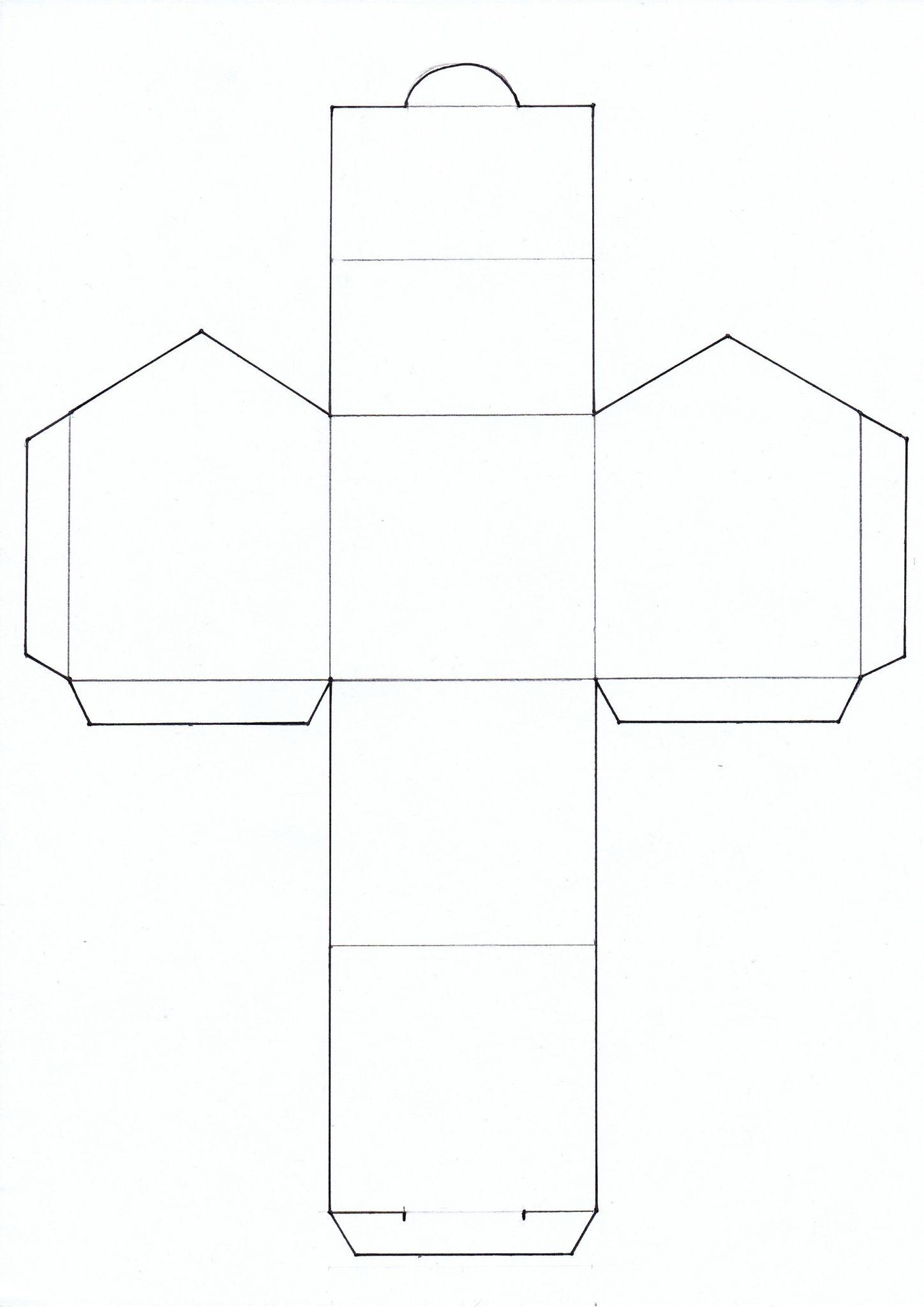 Mosa que et maisonnette argile barbotine papier maisons en papier boites cadeaux noel - Gabarit maison en carton ...
