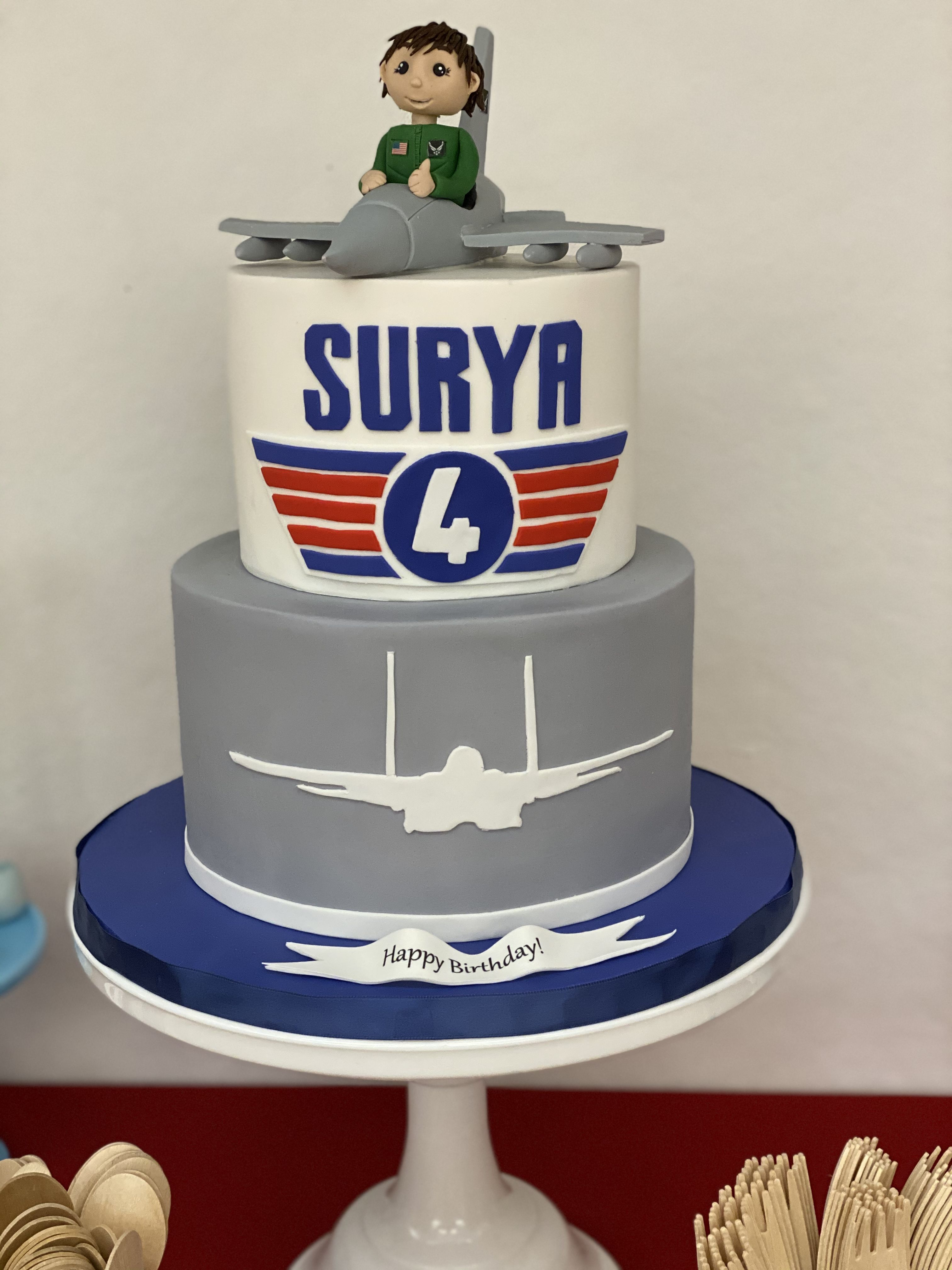 Air Force Party in 2020 Themed birthday cakes, Air force
