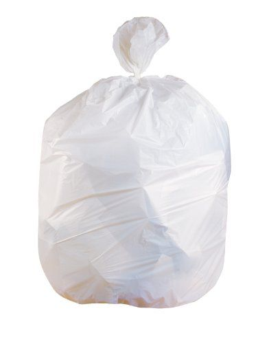 Jaguar Plastics W2432x 12 16 Gallon 24 Inch By 32 Inch 0 5 Mil White Lldpe Can Liner Case Of 500 Trash Bags Trash Liner