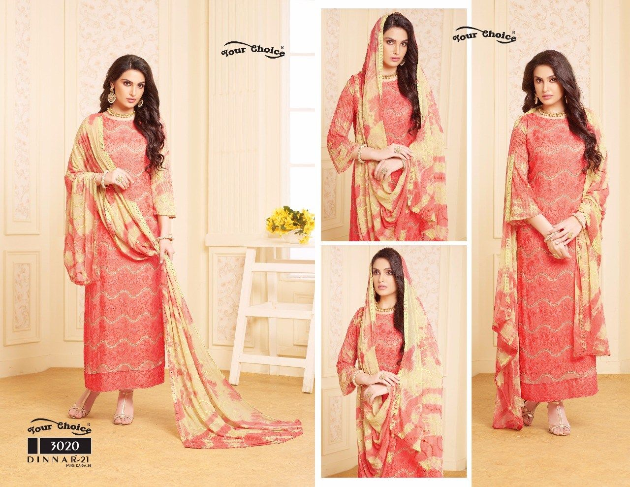 fa1734ff1a YOUR CHOICE DINNAR VOL 21 PURE CHIFFON SALWAR SUIT COLLECTION MANUFACTURER  WHOLESALER AND EXPORTER OF INDIAN ETHNIC WEAR IN INDIA | Sagar Impex