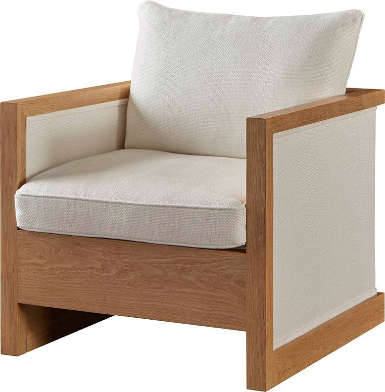 White Oak Frame With Fully Upholstered Or Woven Black Leather Sides And Back With Loose Upholstered Seat And Back Cushions Mcguire Furniture Furniture Chair