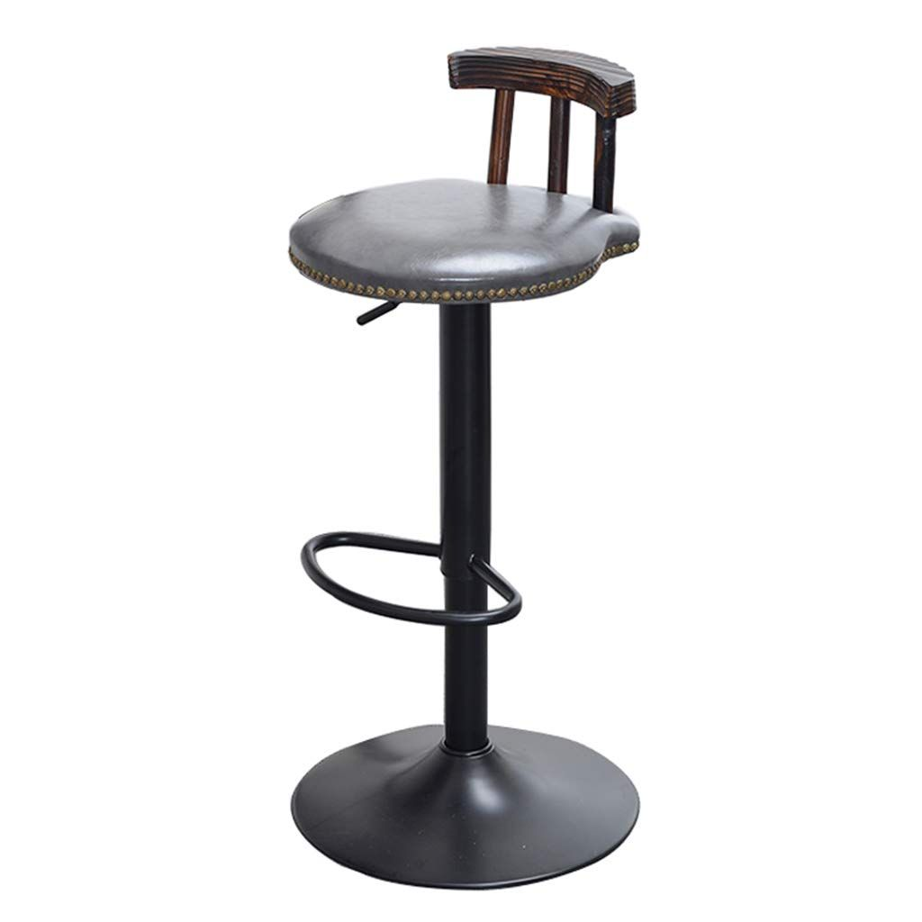 Louis 29 Upholstered Round Backless Metal Barstool Charcoal