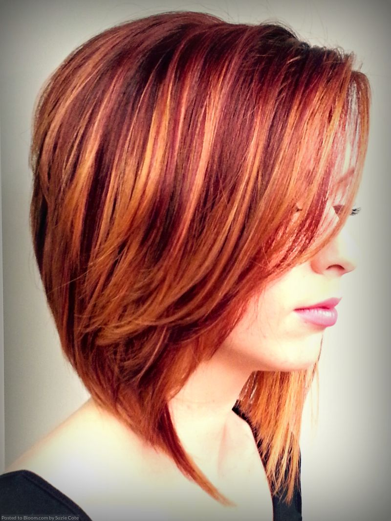 Short red hair with blonde highlights hair color pinterest
