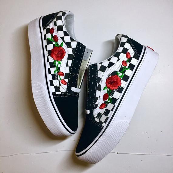 vans platform con rose