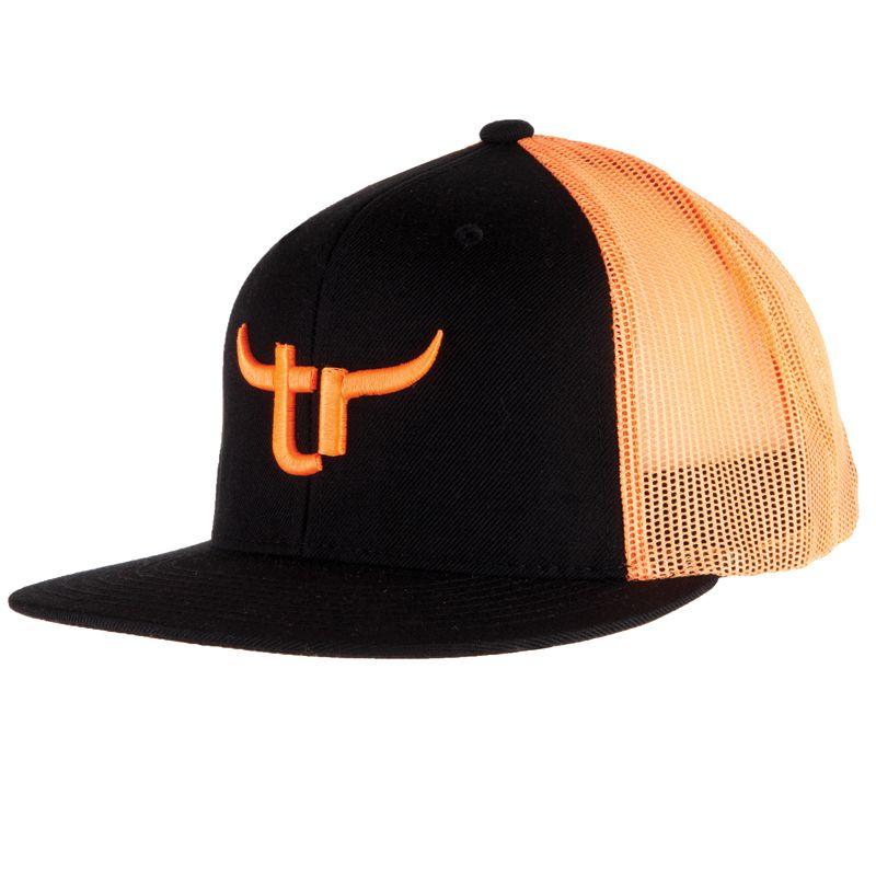 654e9bf11 Men's Black & Neon Orange Team Roper Baseball Cap | TeamRoper.com in ...