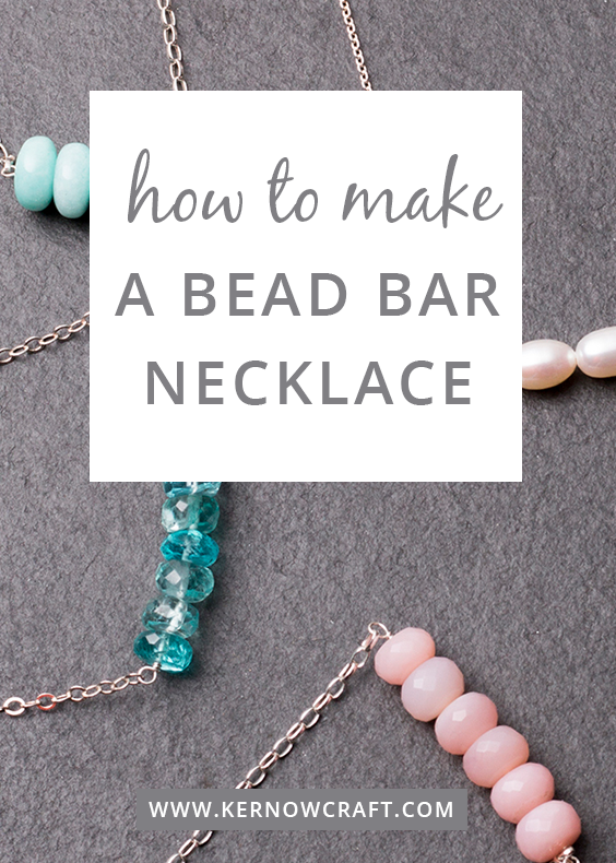 How To Make A Bead Bar Necklace We show you how easy it is to make your own bead bar necklace using
