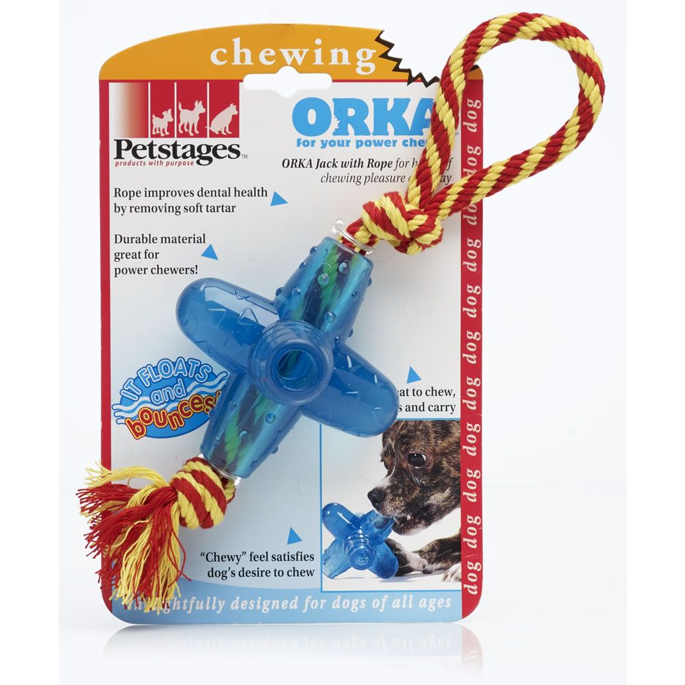Orka Jack With Rope Dog Toy Rope Dog Toys Puppy Supplies Dog Toys