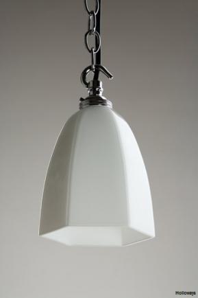 Hexagon milk glass pendant bathroom pendants lighting traditional bathrooms holloways of ludlow