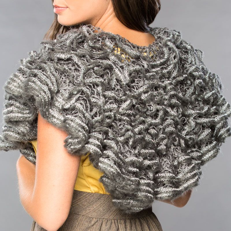 Premier® Starbella® Luxe Runway Shawl #knit #pattern | Knitting and ...