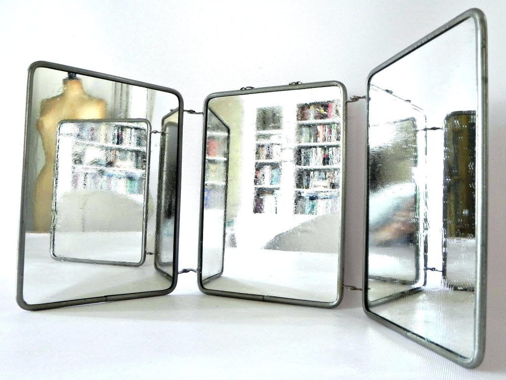 Wall Mirrors: Tri Fold Wall Mounted Mirror Tri Fold Wall Hung Mirror ...