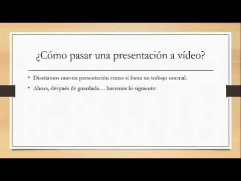 Power Point a vídeo - YouTube