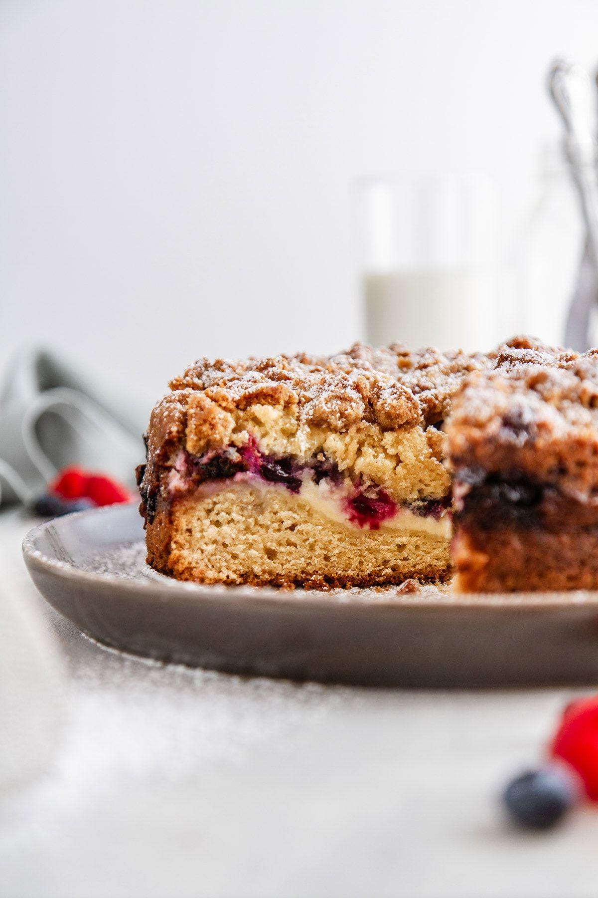 Triple Berry Cream Cheese Coffee Cake Recipe Coffee