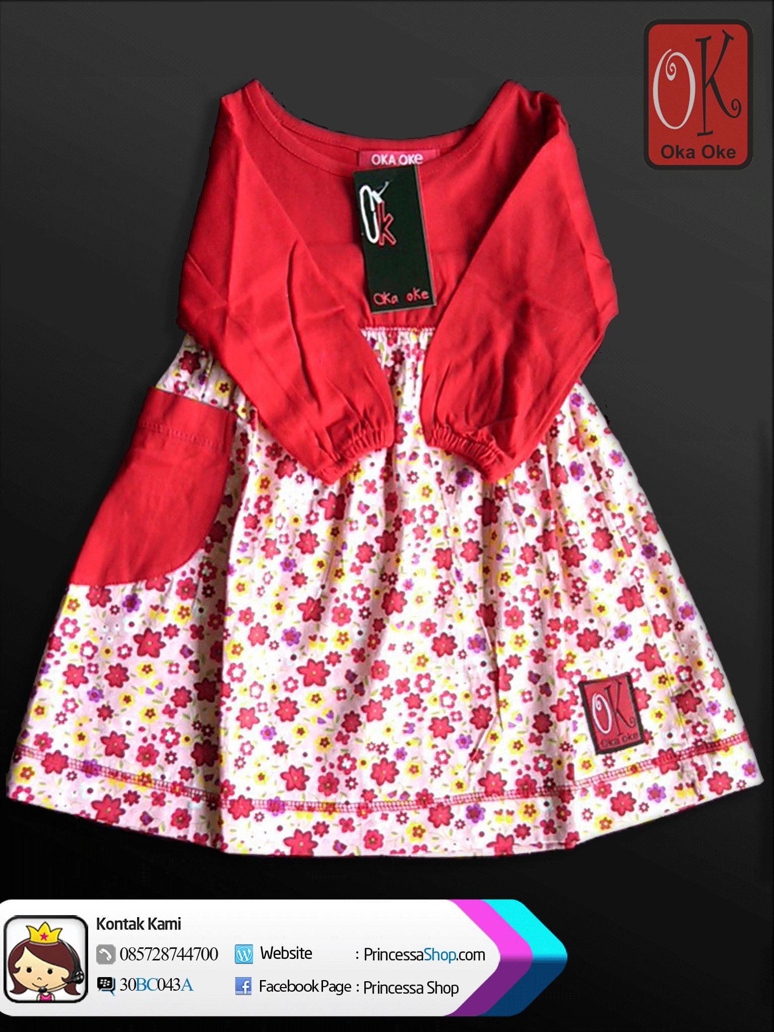 Baju Gamis Muslim Oka Oke Untuk Anak Perempuan Umur 1 2 Tahun Kids Dress Summer Dresses Fashion