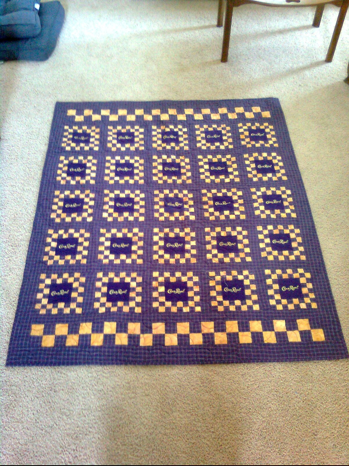 Finished: The Crown Royal Quilt | Crown royal quilt, Royals and ... : quilt made from crown royal bags - Adamdwight.com