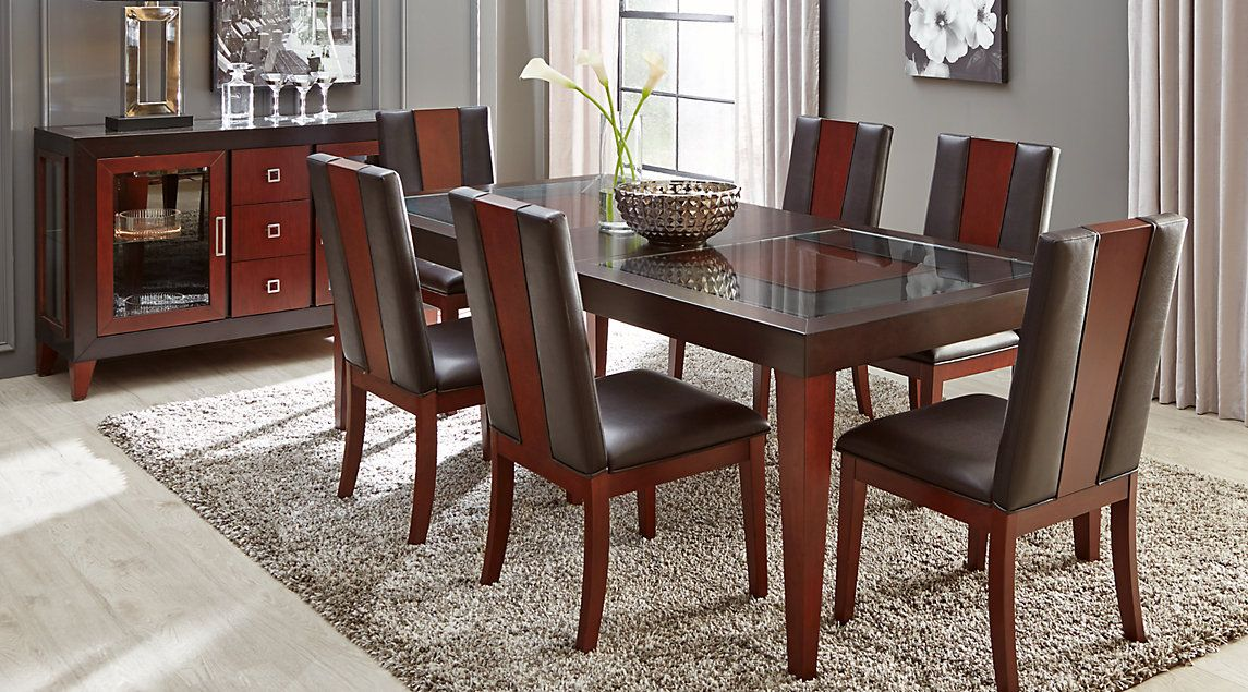 Sofia Vergara Savona Chocolate 5 Pc Rectangle Dining Room
