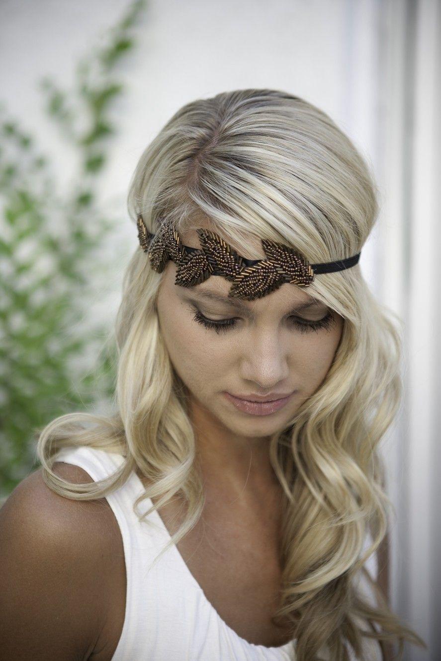 Headband great gatsby holiday party pinterest hair style etsy
