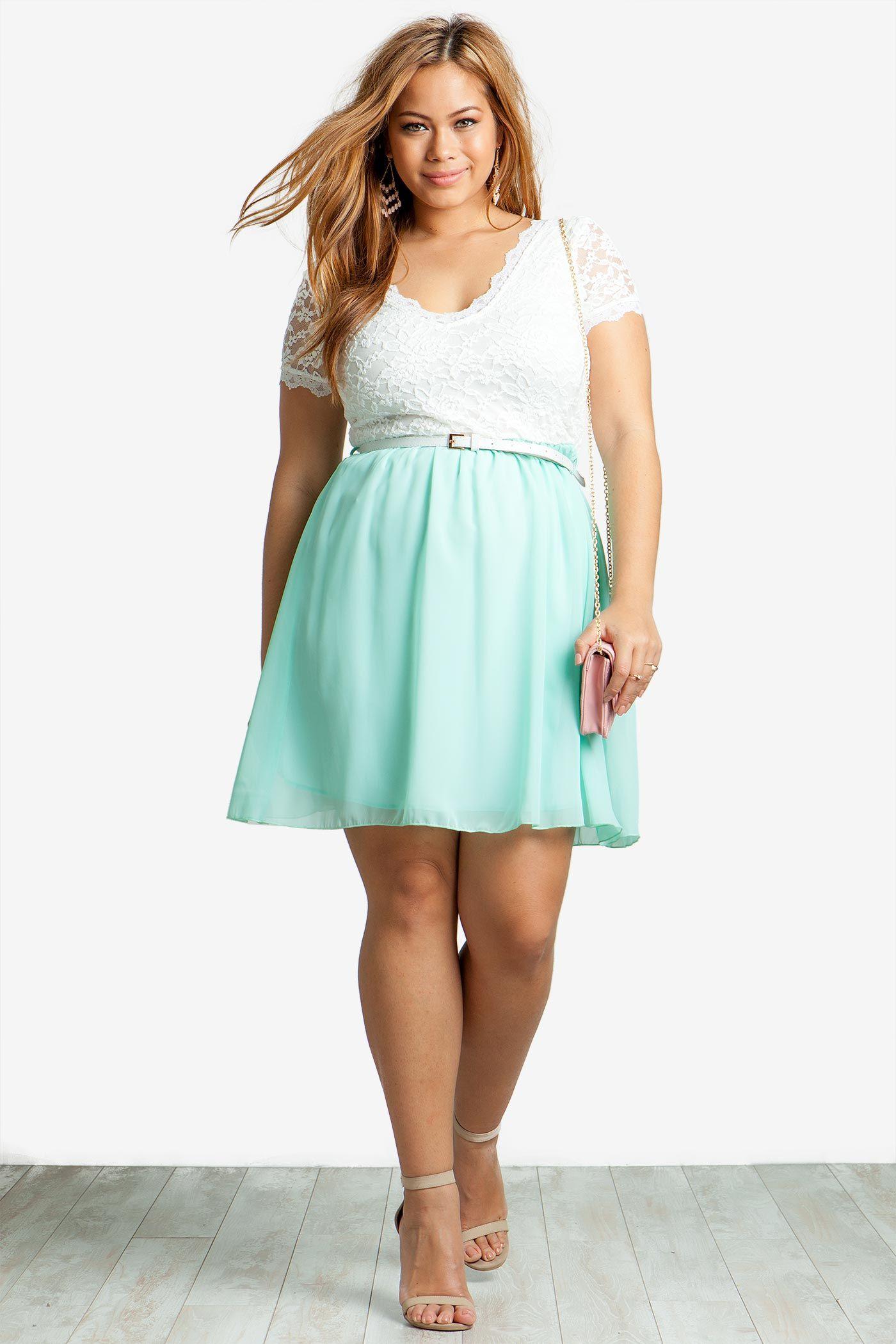 Women\'s Party Dresses | Sweet Lace V-Neck Flare Dress | A\'GACI ...