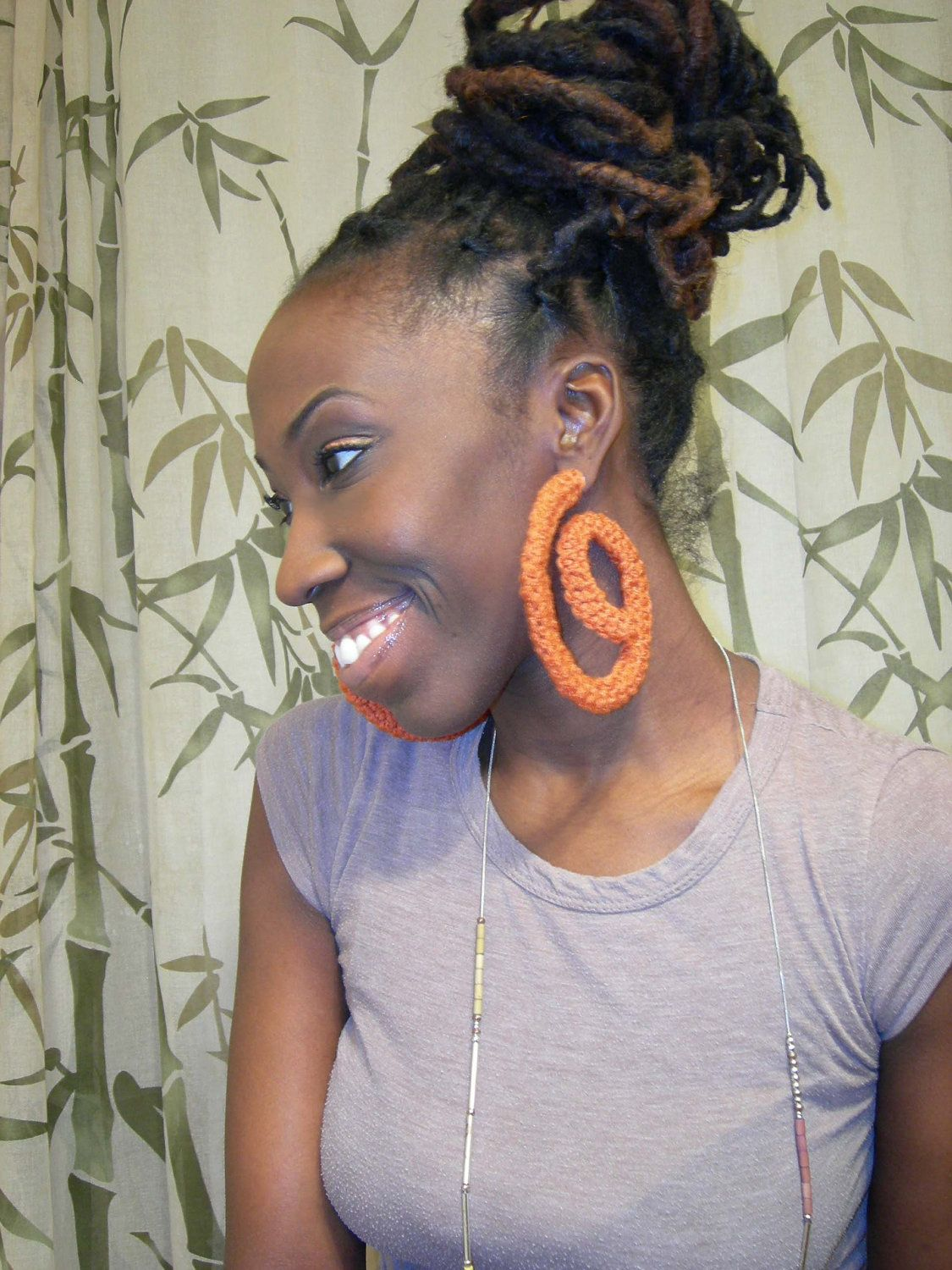 Funky crochet flexi hoopsstatement earrings loc stars