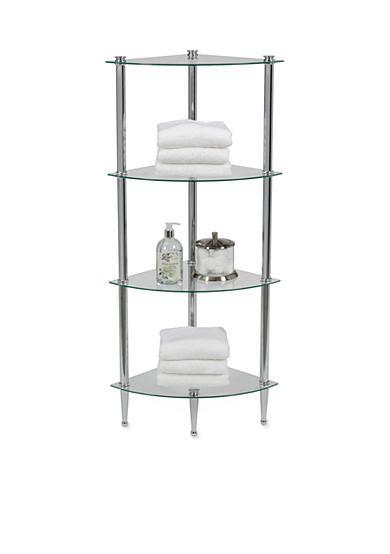 Creative Bath 4 Shelf Chrome Corner Tower