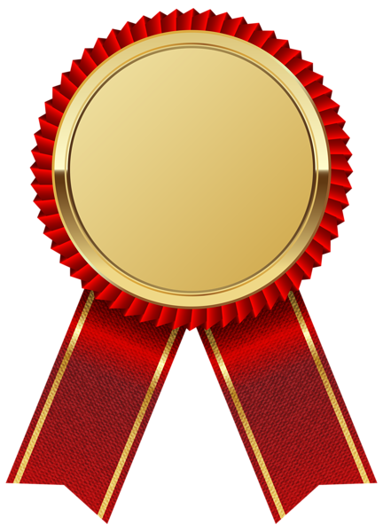 Gold Medal with Red Ribbon PNG Clipart Image Ribbon png