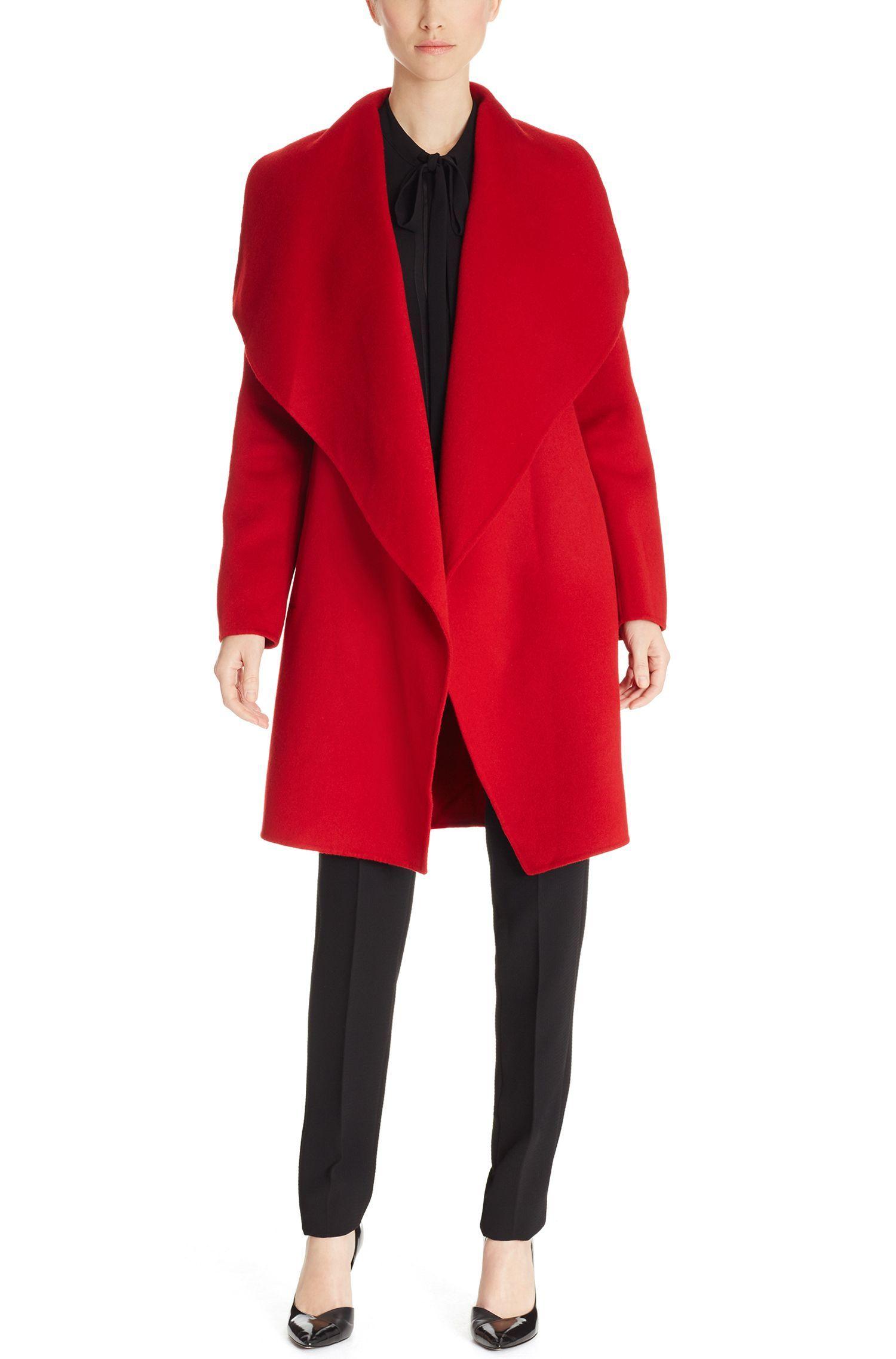 'Catifa' | Wool Cashmere Shawl Collar Coat, Red. Cashmere ShawlHugo BossWinter  ...
