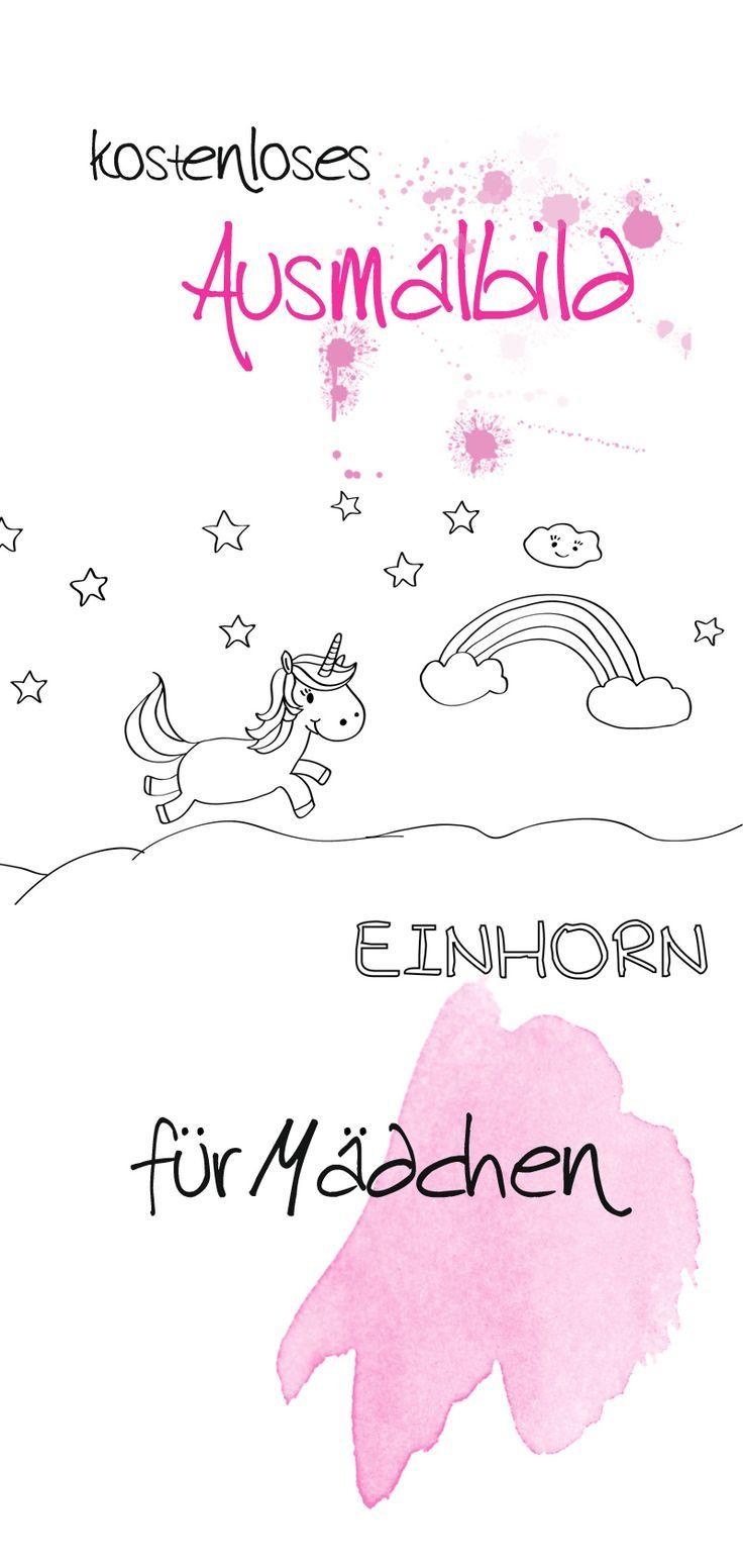 Ein kostenloses Ausmalbild für Mädchen. Malvorlage Einhorn. | Pferde ...