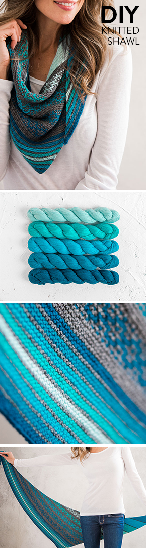 This Beautiful Ombre Knitted Shawl Comes In Multiple Shades And Mini