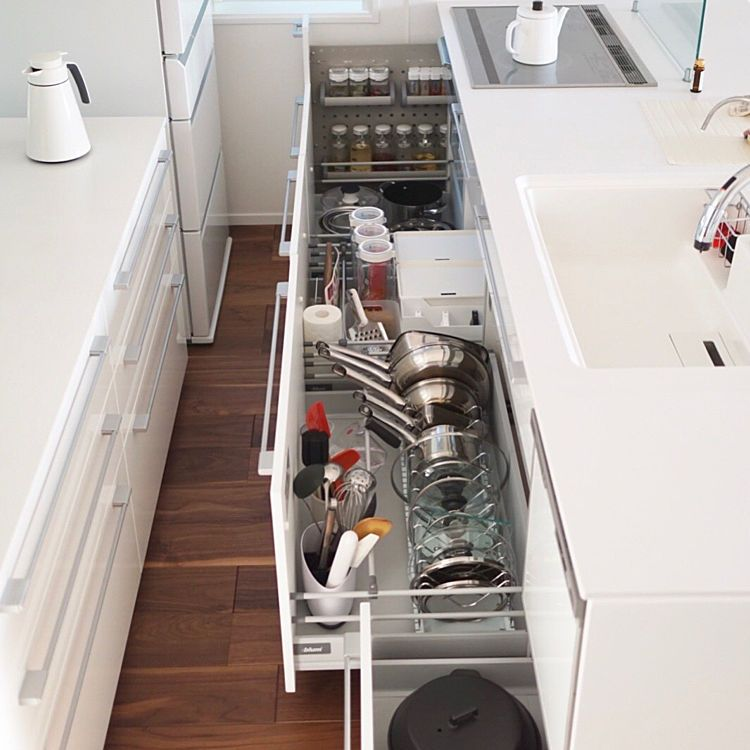 キッチン 一条工務店 キッチン収納 収納アイデア 調味料収納 などの