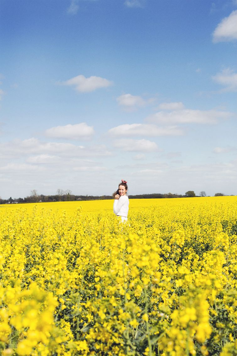 Girl In The Lens Yellow Fields I Want To Run In An Endless Field