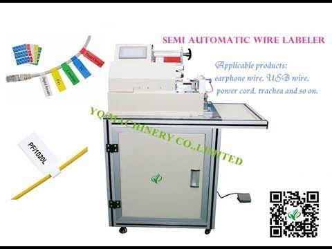 Semi Automatic Flag Label Machine for Wire Sticker Label