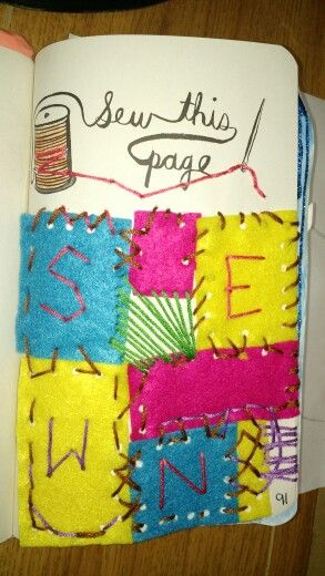 Sew this page   Wreck this journal, Secret santa, Sewing  Wreck This Journal Sew This Page