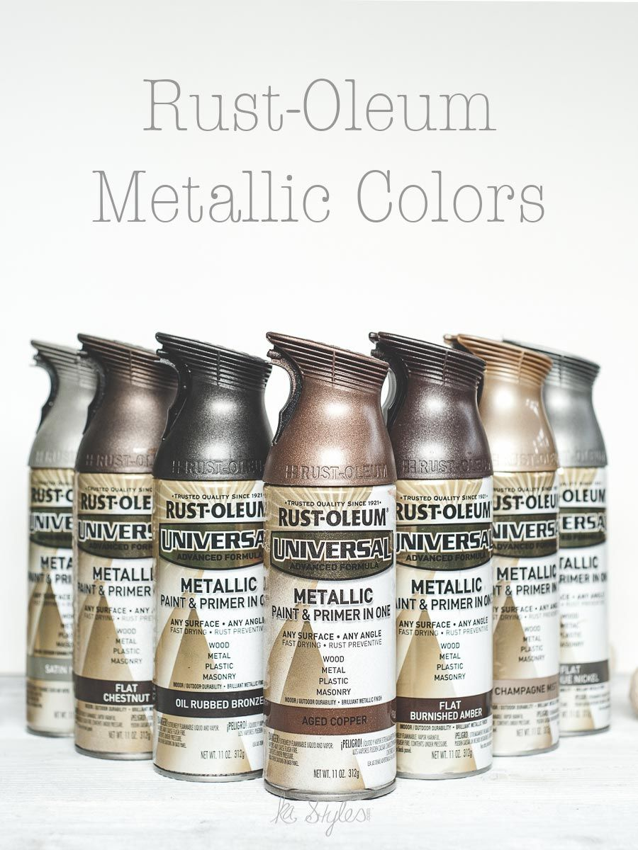 Ordinary Rustoleum Spray Paint Colors For Metal Part - 2: Rust-Oleum Metallic Spray Paint Colors. 10+ Colors Shown.