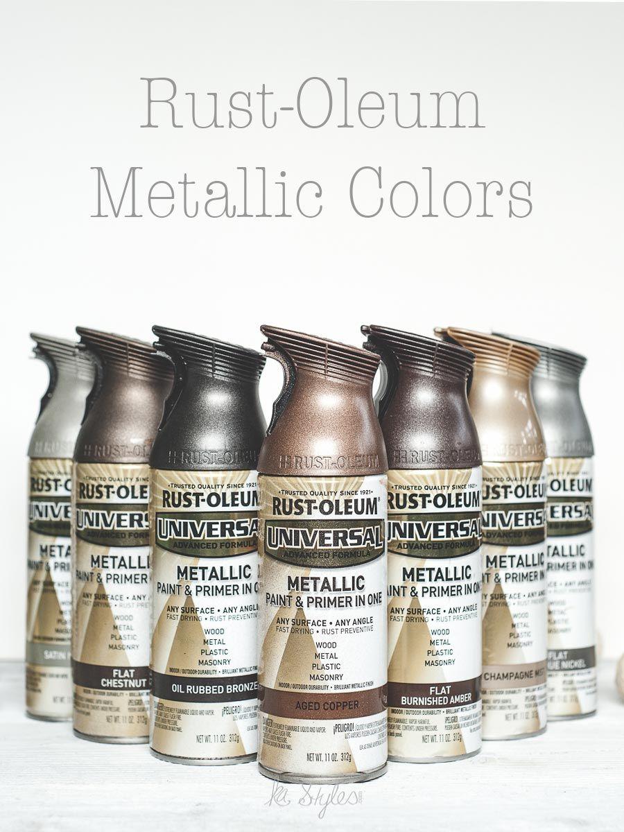 Rust oleum metallic spray paints metallic spray paint spray rust oleum metallic spray paint colors 10 colors shown geenschuldenfo Images