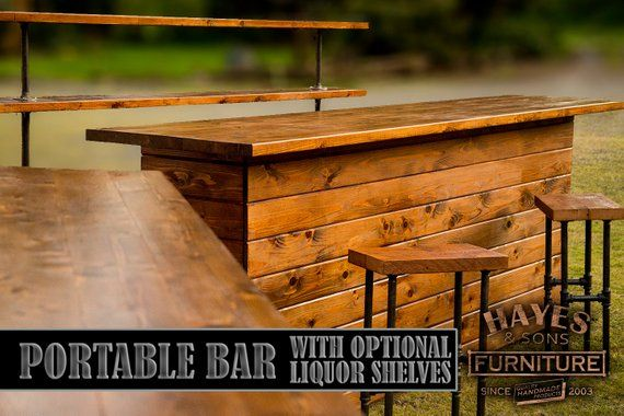 Cedar Portable Outdoor Bar New Dimensions