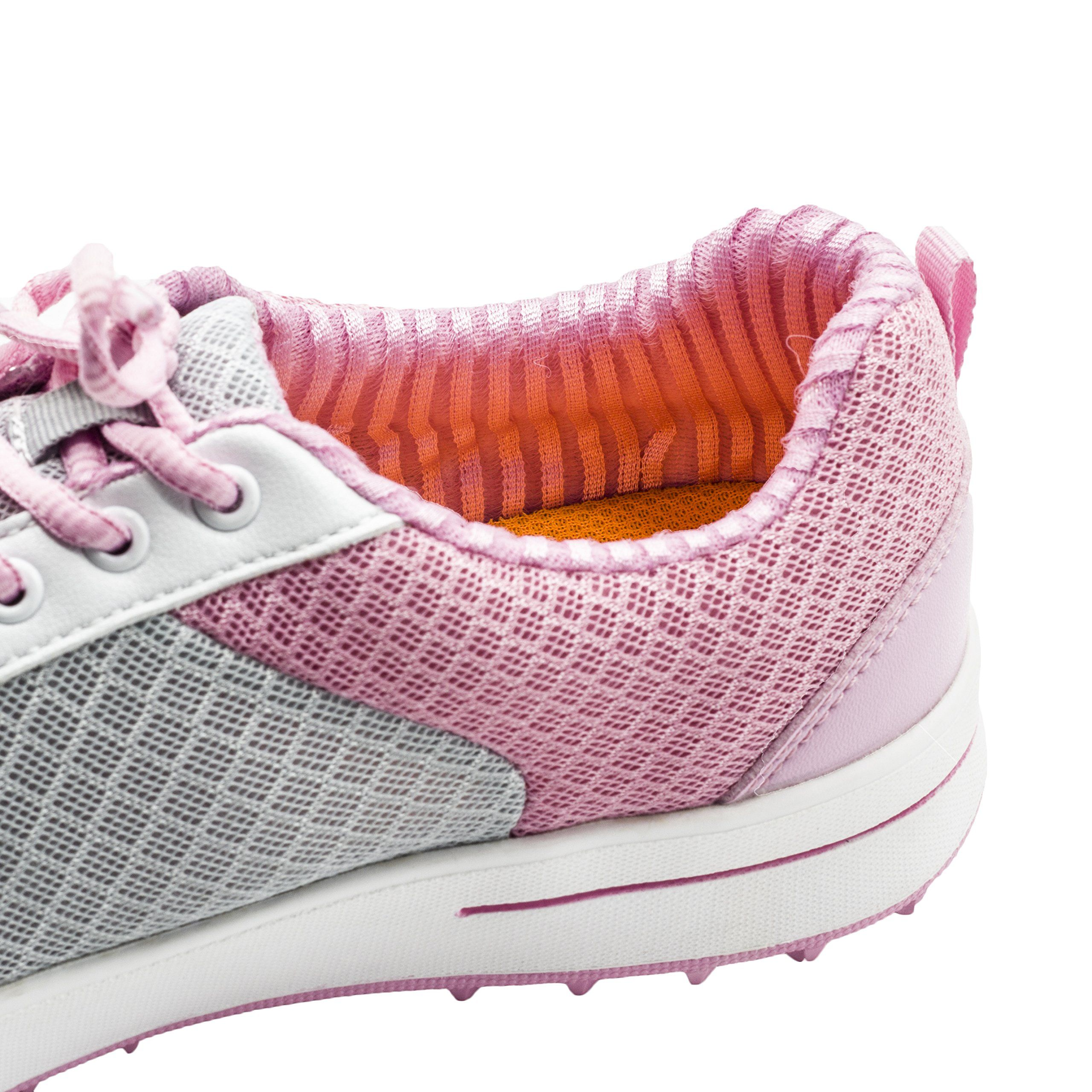 60222bac0afe Golf Shoes     PGM Breathable Summer Golf Shoes for Women and Girl Size 5  US 34EU XS Small XZ081 Pink     You can find more details by going to the  photo ...