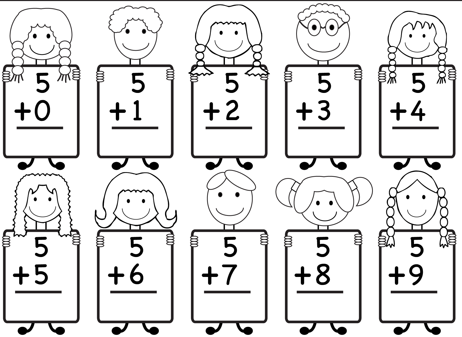 Kindergarten Worksheets Math Additionndergarten Worksheet