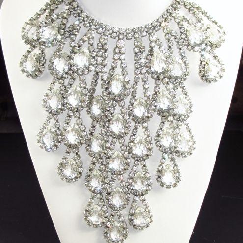 Mimi Di N Haute Couture Double Strand Clear Rhinestone Necklace