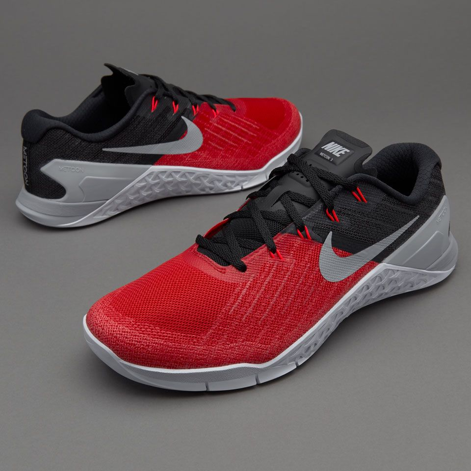 Nike Metcon 3 - Mens Shoes - Regular Training - University Red/Wolf  Grey/Black/White