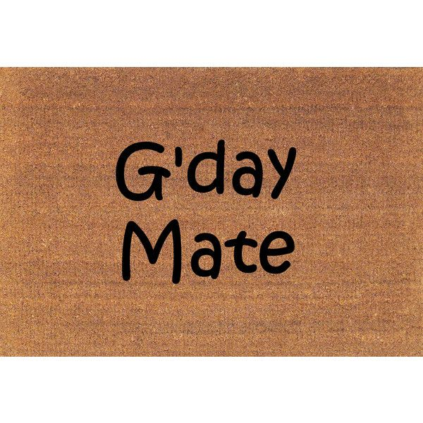 G Day Mate Good Day Australian Greeting Welcome Door Mat