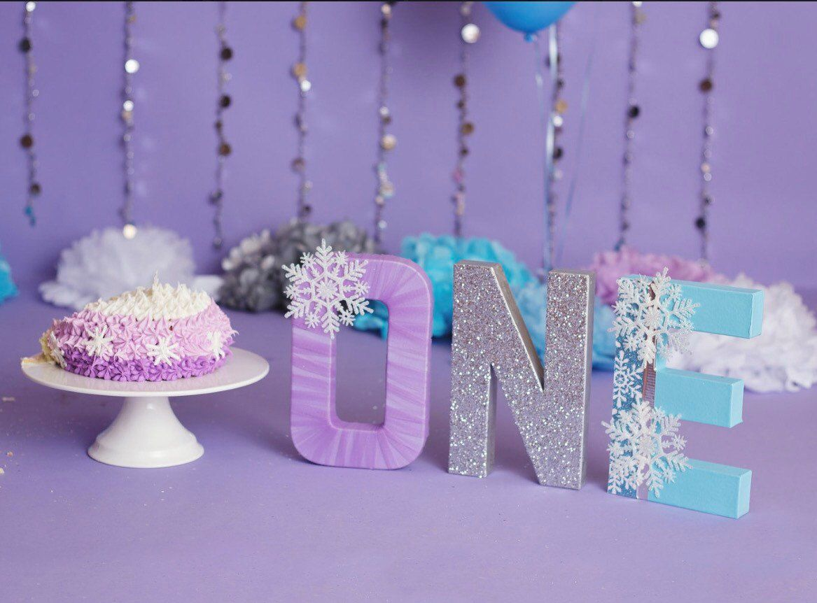 One Letters Snowflake Decor Snowflake Decorations