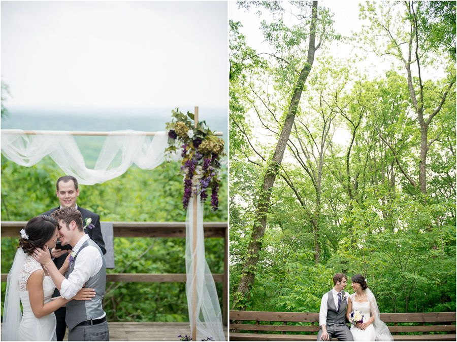 Amy Cameron S Beautiful Intimate Spring Wedding Photos At Brown County State Park The Nature Center Overlook And Abe Martin Lodge
