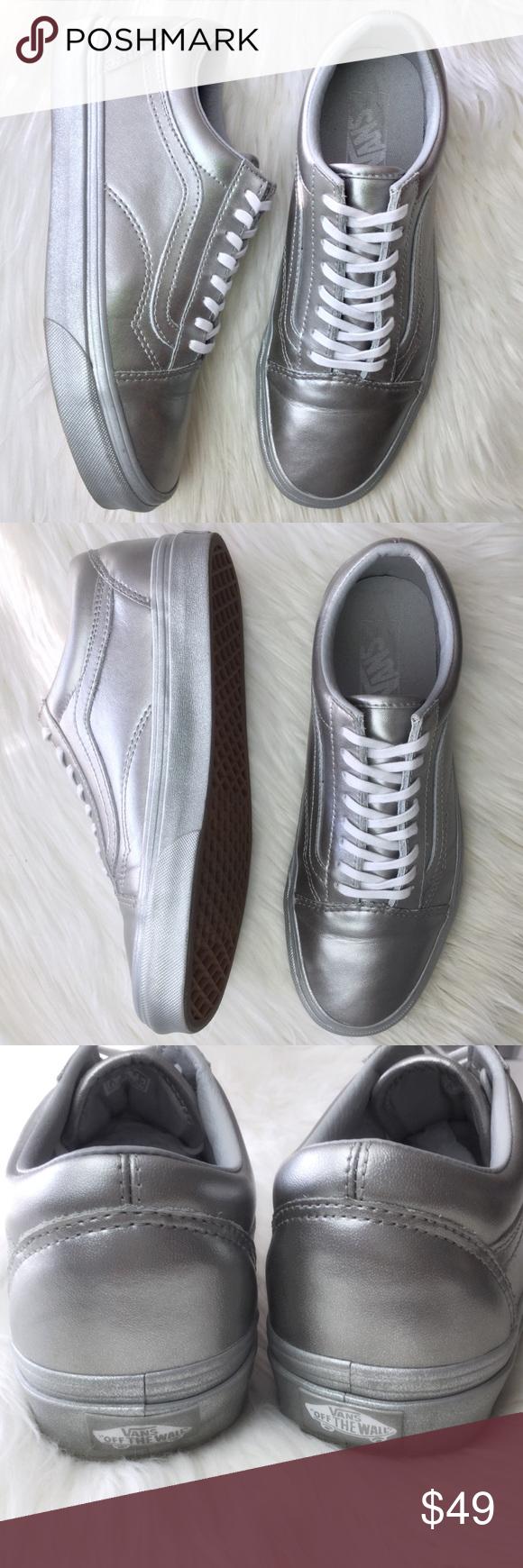 249186b62e Vans Metallic Sidewall Old Skool skate shoes Vans The Metallic Sidewall Old  Skool skate shoes Vans classic flatform skate shoe- the first to bare the  iconic ...
