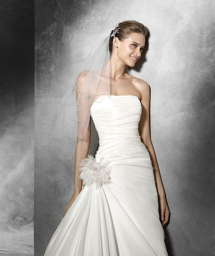semilla - vestido de novia original con escote palabra de honor